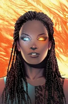 Oya - (Idie Okonkwo) X-MEN; Oya first appeared in Uncanny X-Men as newly-manifested mutant who is deeply conflicted about her powers. Following her introduction, she, along with Hope Summers, Velocidad, Transonic, Zero, & Primal featured in Generation Hope. She made appearances in Uncanny X-Men & is currently part of Wolverine & the X-Men. has the power of temperature manipulation. This power allows her to move heat from one area to another, producing various effects.