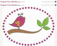 HUGE SALE Sale Embroidery Machine Designs Birds  Branch 6 files VP3 Format Huge Sale Instant Download