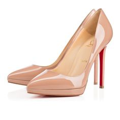 Christian Louboutin United States Official Online Boutique - Pigalle Plato 120 Nude Patent Leather available online. Discover more Women Shoes by Christian Louboutin Christian Louboutin Outlet, Louboutin High Heels, Shoes Heels, Nude Shoes, Heels Outfits, Brian Atwood, Platform High Heels, Fashion Heels, Women's Fashion