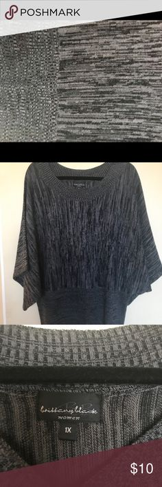 Brittany Blade Sweater Grey and black sweater excellent condition, bat ring sleeves. brittany blade Sweaters Crew & Scoop Necks