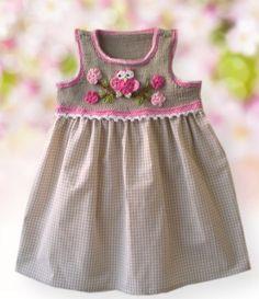 Vestido de croche para menina |