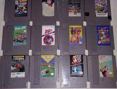 12 #Nintendo #NES #Games Lot #Bundle #Metroid, #Mario Duck Hunt, World Cup, Millipede+