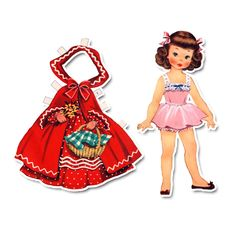 "Paper Doll Diecuts - 7"" Red Riding Hood"