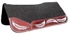 Best Ever Pads OG Wool - Custom Tooled Leather, Horse Tack, Saddle Pads, Custom, Rodeo, One of a Kind www.BestEverPads.com