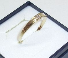 Vintage Ringe - Schlichter Goldring 585 Damenring Ring 19,5 GR128 - ein…