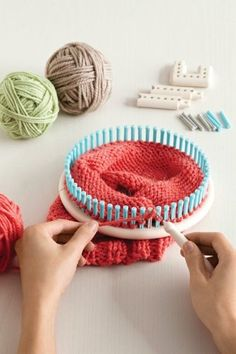 I love Look Knitting.  Okay, maybe its cheating...but I can get done in a few hours what would normally take me a few days.  Loom Knitting & Weaving Resources via Lion Brand. Super helpful!