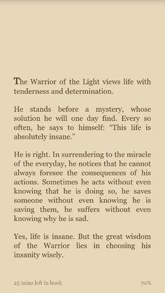 High Quality Paulo Coelho  Warrior Of The Light