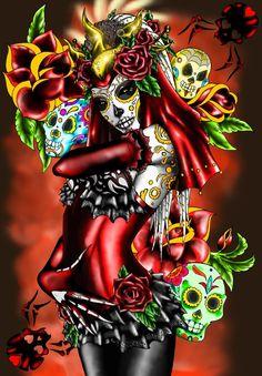 ElDia+De+La+Muertos+by+Fachhillis.deviantart.com+on+@deviantART