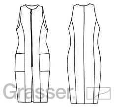 Выкройка платья, модель № 185, магазин выкроек grasser.ru  #sewingpattern