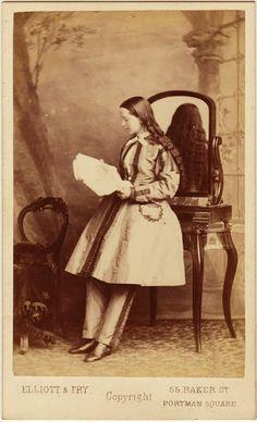 American Civil War field surgeon Dr. Mary Walker in custom tailored suit, London