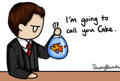 Sherlock fanart. Im going to call you cake. mycroft. awesome fan art by the lovely shocking blankets P.s. Kinder Unboxing