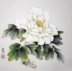 Asian Flowers, Oriental Flowers, Chinese Flowers, Japanese Flowers, Japanese Painting, Chinese Painting, Chinese Art, Japanese Art, Peony Painting