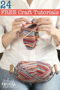 Have you been wanting to pursue a passion or further your talent? Check out these 24 FREE craft tutorials to learn anything from knitting to photography to bread making! :: todaysfrugalmom.com