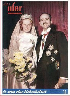 Archduke Otto von Habsburg and Regina Saxe-Meiningen wedding at Nancy