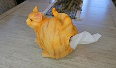 Cats are the best. Everything about them is awesome. You need this Cat Butt Tissue Holder in your life. This fun and humorous tissue holder lets y. Pinterest Fails, Unusual Gifts, Surreal Art, Memorable Gifts, Tissue Holders, Gifts For Him, Funny Cats, Weird, How To Memorize Things