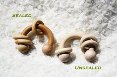 Wooden Round Toy Rattle montessori grasping & sensory toy by iPuke, $5.95