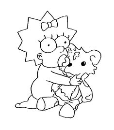 Pin by vicky mertens on the simpsons | Pinterest | Coloring books ...