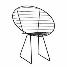 Metalen draadstoel happy chair van #nordal #metalen_draadstoel #happy_chair #wire_chair #balkon_stoel | http://www.balkonafscheiding.nl/product/nordal-draadstoel-zwart/