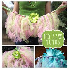 Fairy Birthday Party Ideas! No Sew Tutus Craft  by LivingLocurto.com