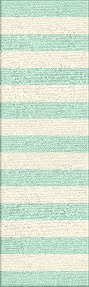 Jaipur Rugs RUG103896 Flat-Weave Stripe Pattern Wool Blue/Ivory Area Rug ( 2x3 )