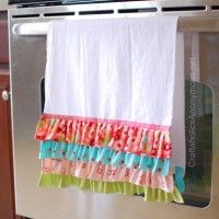 Valentine's Day Ruffled Towel