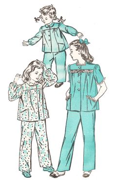 Advance 4180 Girl's Vintage 1940s Two Piece by DRCRosePatterns