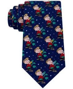 Peanuts Men's Charlie Brown Tree Tie - Blue