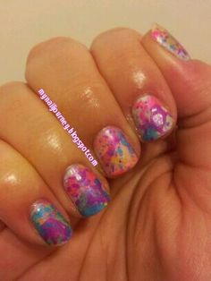 My nail journey: Sinful Colors Bubble Bath Swatches and Splatter Mani