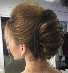 Updos For Medium Length Hair, Medium Hair Styles, Curly Hair Styles, Updo Styles, Easy Formal Hairstyles, Bun Hairstyles, Wedding Hairstyles, Female Hairstyles, Evening Hairstyles