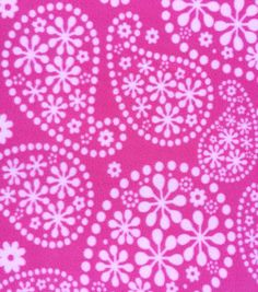 Anti-Pill Fleece Fabric Flowered Paisley