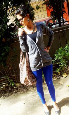 Bought some blue leggings today. Fleece lined (: but not sure how to wear them...
