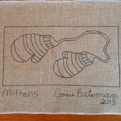 Mittens Rug Hooking Pattern 16x8 by LCsWoolnSilk on Etsy