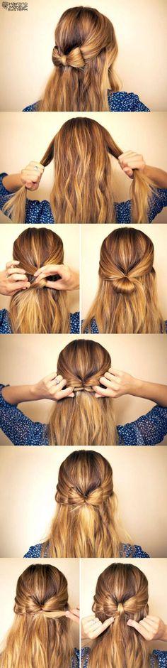 Make a bow in ur hair