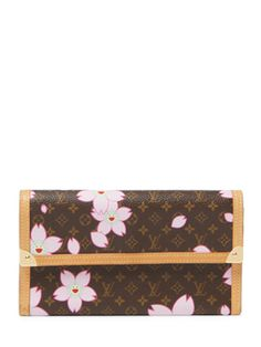 Louis Vuitton x Takashi Murakami Monogram Cherry Blossom Wallet from Little Vintage Luxuries on Gilt