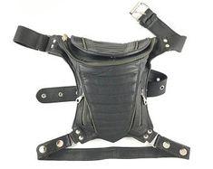 leather leg bag - Google Search Leather Holster, Leather Pouch, Thick Leather, Brown Leather, Thigh Bag, Leather Apron, Black Leather Handbags, Shoulder Bag, Jedi Cosplay
