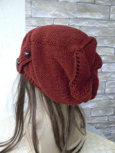 Womens Hat   Knit hat   Cable knit hat   Slouchy Hat with by Ebruk, $50.00