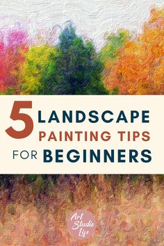 Create beautiful landscape paintings with the help of these 5 tips. If you're a beginner or looking to improve your landscape painting, make sure to look these ones over! Your Paintings, Watercolor Paintings, Color Mixing Guide, Beautiful Landscape Paintings, How To Move Forward, Beginner Art, Art Folder, Outdoor Paint, Books To Buy