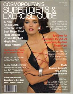 Cosmopolitan's Super Diets & Exercise Guide Magazine Fall/Winter 1982 cover with the late Gia Carangi