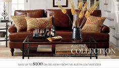 Traditional Leather Chairs & Austin Sofas | Pottery Barn