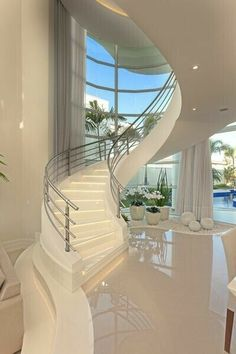Home Stairs Design, Home Room Design, Dream Home Design, Modern House Design, My Dream Home, Dream Big, Dream House Interior, Luxury Homes Dream Houses, Modern Mansion Interior