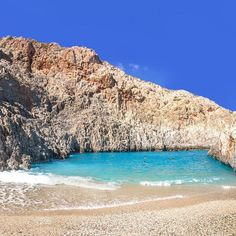 One of the most stunning beaches in Chania: Seitan Limani #Crete #CretanBeaches #Rethymno #Heraklion #Lasithi #wave #Summer #SatansPort