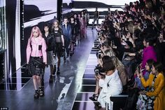 Putting on a show: The French fashion house's latest extravaganza saw models take to the r...