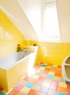 colorful bathroom interior