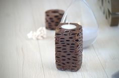 Handmade tealight candle holder! Uniquely Australian - made from a banksia seed pod