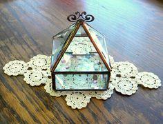 3 x 3 Stained Glass Jewelry Box Glass Box by shopworksofglass