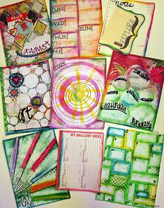 Art Journaling Pages by Julie Ann Shahin