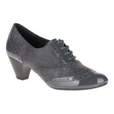 Women's Soft Style Gianna Heeled Wing-Tip Oxford Dark Faux /Patent