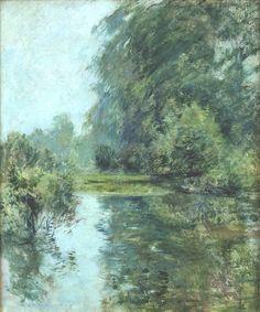 "John Henry Twachtman, ""The Pond, Weir Farm"" (1889)"