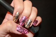 Cute nail art for halloween, or just any time...