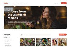 Kocina Cooking Recipes Website HTML5 Responsive Template Home Recipes, Bread Recipes, Cooking Recipes, Html Website Templates, Food Website, Recipe Search, Recipe Today, Appetizers, Snacks